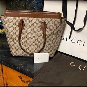 NEW Gucci GG Linea A Supreme Canvas & Leather Tote
